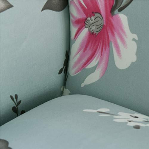 Elasticità 3D Disegno Tutto Incluso Scopo Generale Fodera Copridivano 4 Posti (230-300 cm) Prevenzione dei Graffi Soggiorno Camera da Letto Hotel (Fiori, 230-300 cm)