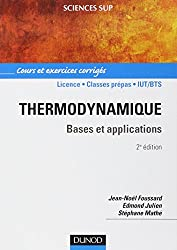 Thermodynamique : Bases et applications