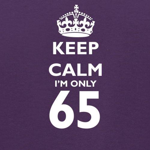 Keep calm I'm only 65 - Herren T-Shirt - 13 Farben Lila