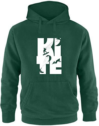 EZYshirt® Kite | Kitesurfing Pullover Herren | Männer Kapuzenpullover | Hoodie