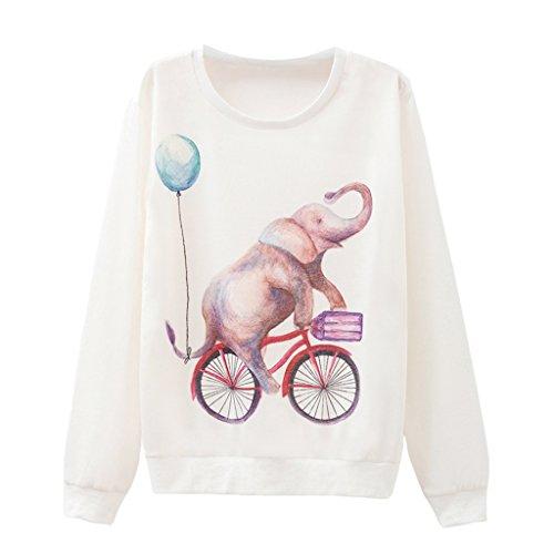 Mädchen Akrobatik Radfahren Elefant Pullover Französische Terry Cartoon Sweatshirt