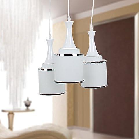 XHYYGZS Lampadari 3 Capo fondata quindi testa lampada Energy Light