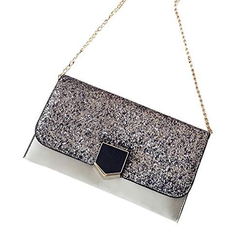 LCDY Damen-Clutch-Tasche Damen, Personalisierte Temperament Klassische Clutch, Wilde Gezeiten-Tasche,Gray (D-serie Kupplung)