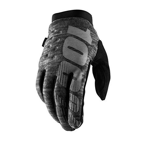 guanti mtb 100 percent 100 Percent Brisker 100% Cold Weather Glove Heather Grey LG Guanti per Occasioni Speciali