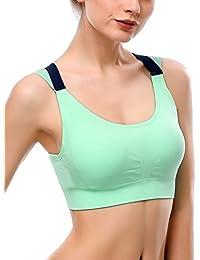 Sportivo Abbigliamento Intimo Sportivi Reggiseni Verde it Amazon BwqX0aP