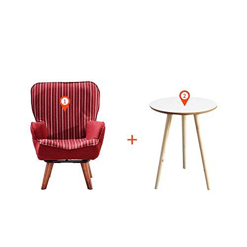 DEO Bureau d'ordinateur Canapé pour enfants Mignon petit canapé chaise de lecture en 3 couleurs durable (Couleur : Rouge, taille : Chair and table)