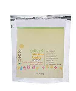 Omved SHISHU Baby Cleansing Ubtan Powder for New Born Babies - 100% Natural and Chemical-Free, 25g