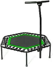 SportPlus Fitness trampoline, TÜV-getest, Ø 126cm, in hoogte verstelbare handgreep, gebruikersgewicht tot 130 kg, in 3 kleur
