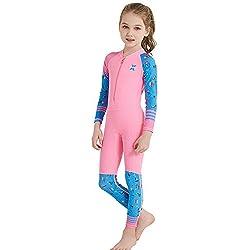 Makalon Maillot De Bain Enfant Fille Garçon Pleine Longueur Maillot De Bain Plongée sous-Marine Se Baigner Un Costume/Combinaison De Surf