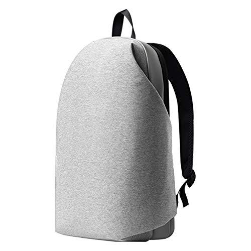 Pohren Stylischer Designer Rucksack Cocoon Design, Modern für Herren und Damen, in elegantem Grau, mit Laptopfach für 15 Zoll Laptops, Wasserabweisend, für Schule, Studenten, und Arbeit, Daypack