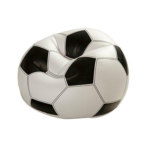 Dabuty Online, S.L. Sillon PUF hinchable diseño balon de futbol 108x110x66 cm INTEX