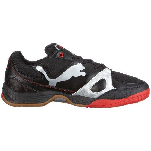 PUMA 102064 03 Vellum II, Herren Sportschuhe - Indoor Schwarz (Black-Puma Silver-High Risk Red)