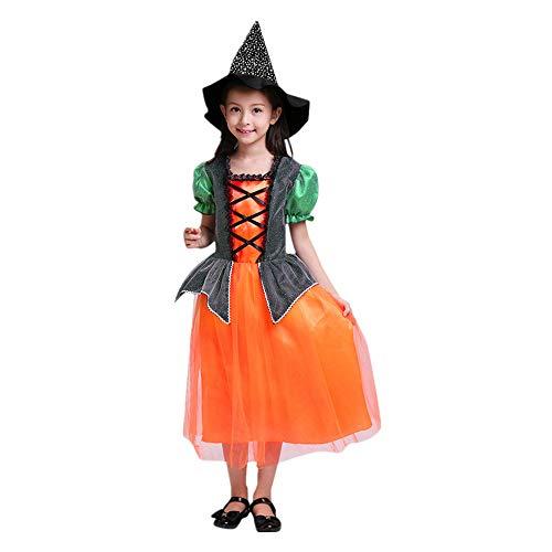 Halloween Party Kleider + Hut Outfit Kleinkind Kinder Baby Mädchen Kleidung Kostüm Kleid (Baby Kostüm Dubai)