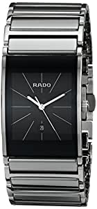 Rado Hommes R20784159 Integral Black Watch Platinum Dial Ceramic