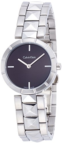 Calvin Klein Women's Quartz Watch with Black Dial Analogue Display Quartz Stainless Steel K5T33141