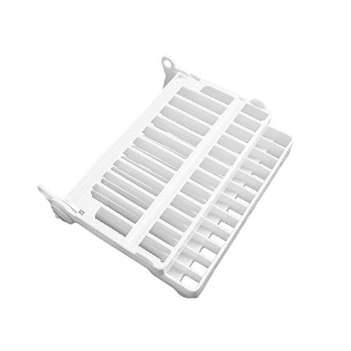 LANDUM Faltbar Teller Dish Trocknen Organizer Rack Abtropfgestell Kunststoff Aufbewahrung Halter Küche, ABS, weiß, See The Picture