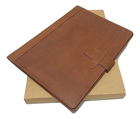 cuir marron Plieur Boite de Cadeau personnalisé avec votre texte NOM & Message it124