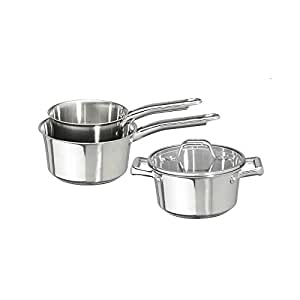 Tefal batterie de cuisine 4 pieces inox induction volupty for Batterie de cuisine induction inox
