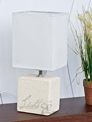 Dekorative Tischleuchte in weiß 1/5/836 Tischlampe Dekolicht