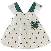 ZHMEI Vestidos niña Invierno | Vestido de Princesa con Estampado de Lunares y Correa de Lazo para bebés y niños pequeños Ropa Casual 6 Meses - 3 años