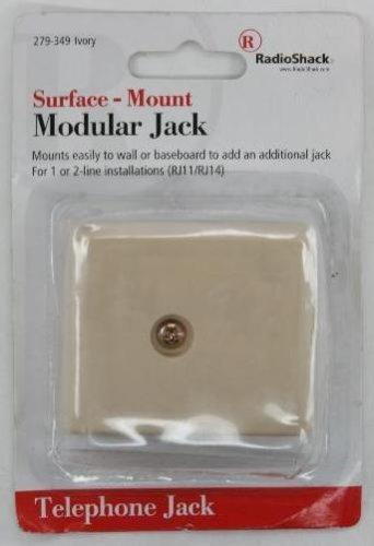 RadioShack Surface-Mount Modular Jack by RadioShack Modular Surface Mount