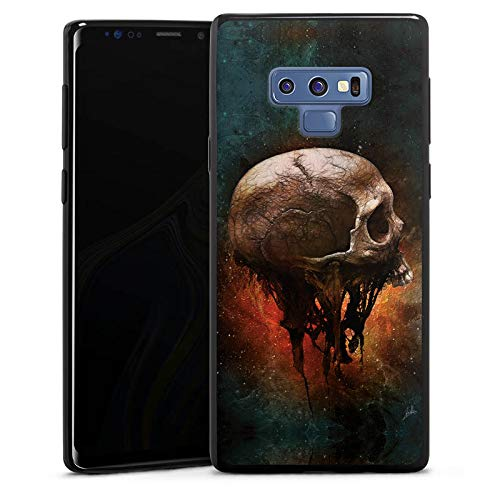 DeinDesign Slim Case Silikon Hülle Ultra Dünn Schutzhülle kompatibel mit Samsung Galaxy Note 9 Skull Halloween ()