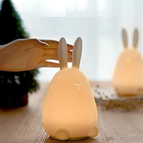Kawaii Mi conejo Patted LED lámpara luz nocturna multicolor sensor de control táctil faucet mejor regalo para niños bebé niños luz