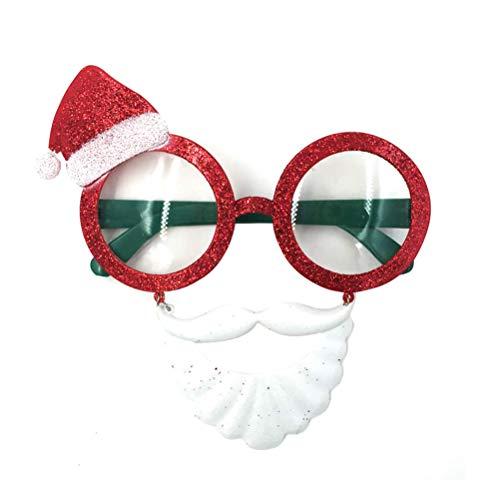 BESTOYARD Weihnachten Sonnenbrille Santa Clow Stil Brille Cosplay Sonnenbrille Foto Requisiten Party Supplies Masquarade Kostüm Zubehör