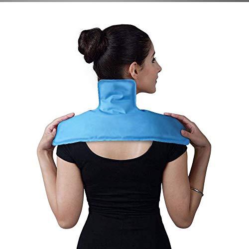WORLD-BIO kühlkissen Gel kühlpads Schulter Kalt Warm Kompressen für Rücken, Nacken, Knie (Für Hals und Schulter) -