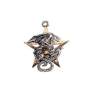 Pendentif Gothique - Forbidden - Pentacle du Dragon