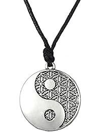 Wicca amult religiosa taolist Ying Yang símbolo equilibrio de vida Colgante Collar