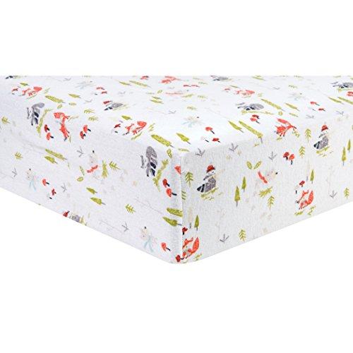 Trend Lab Winter Woods Deluxe Flanell Spannbetttuch Kinderbett, Multi