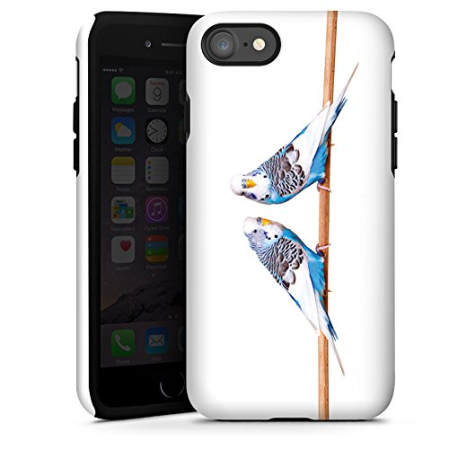 Apple iPhone SE Hülle Case Handyhülle Vogel Sittich Wellensittich Tough Case glänzend