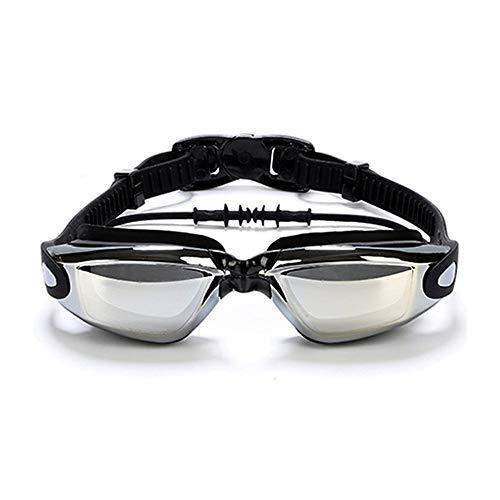 KinTTnyfgi Einstellbare Brille Schwimmbrille, Rauch Objektiv UV-Schutz Wasserdicht Anti-Fog...