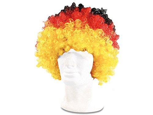 cke: Afro-Fan-Perücke in Deutschland-Farben (Kunsthaar-Perücke) (Fußball-fan-halloween-kostüme)
