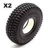 2 Solid PU Tyre 3.00-4 4 Inch Black Puncture Proof Fits Mobility Scooter Block Tread
