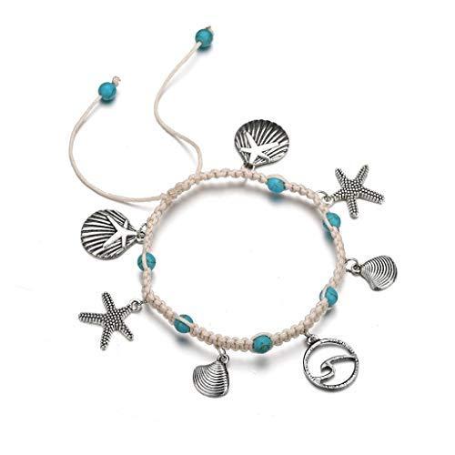 TAOtTAO Ankle Chain Frauen Shell Beach Fuß Kette Conch Sandale Fußkettchen Perlen Armband Schmuck