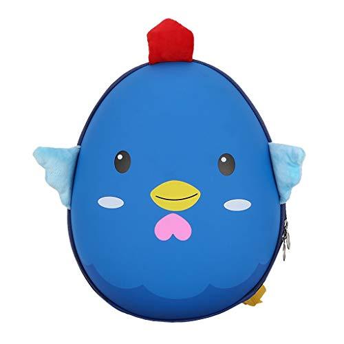 Dorical Kindergarten Schultasche für Kinder Kleinkinder Süß Cartoon 3D Küken Hartschalen Studenten Rucksack Tagesrucksack,Schulranzen Outdoor Reisetasche - für Junge und Mädchen 2-5 Jahre(Blau)