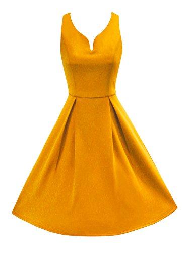 LUOUSE Robe Années 50 Classique Clarity 'Aura' Jaune