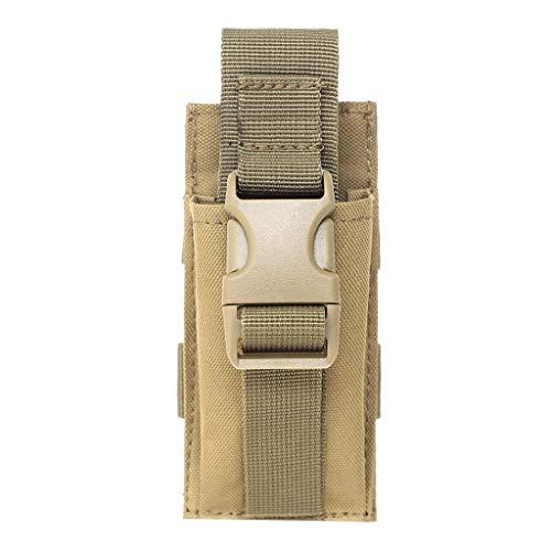 perfk 1 Pieza Bolsa de Molle para Linterna Militar Táctica de Libración Rápida Protega Herramientas con Seguridad - Broncearse