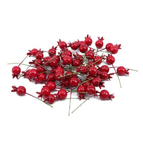 SUNSKYOO 50 Pcs Fruit Berry Künstlicher Granatapfel Mini Gefälschte Weihnachten Matt Silk Flower Home Christmas Decor -