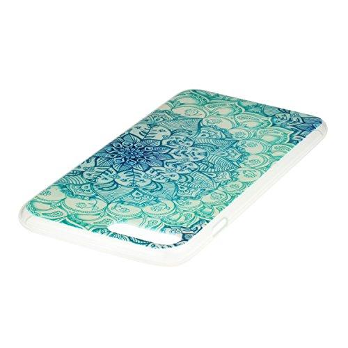 iPhone 7 Plus Hülle,iPhone 7 Plus Case,iPhone 7 PlusSilikon Cover Felfy Ultra Dünne Slim Full Body Soft Gel TPU Silikone Case Schöne Bunte Muster Design Case Rückschale Schutz Anti Scratch Tasche de p Jade-Blumen