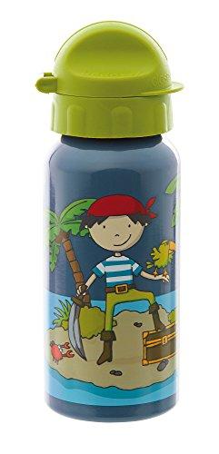 sigikid Jungen, Trinkflasche mit Drehverschluss 0,4 l, Sammy Samoa, Blau, 25012