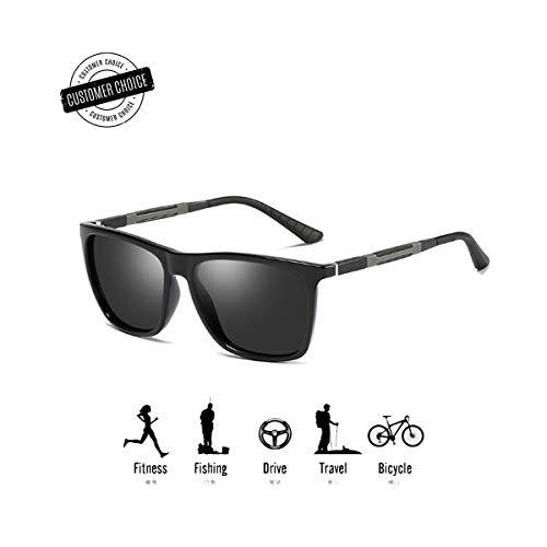 N G G & Men Glasses Polarized HD Sunglasses, Womens Upgrade Retro Anti-Glare Eyewear, Polarisierte Sonnenbrille Herren Angeln, Polarisierte Sonnenbrille Damen ski/Wayfarer (Grau)