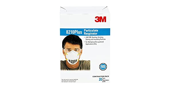 N95 Disposable Plus Respirator 8210 Meets Particulate 3m Standard