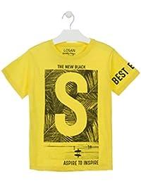 619acd371 losan Camiseta de Manga Corta de Color Amarillo Estampada para Chico  913-1000