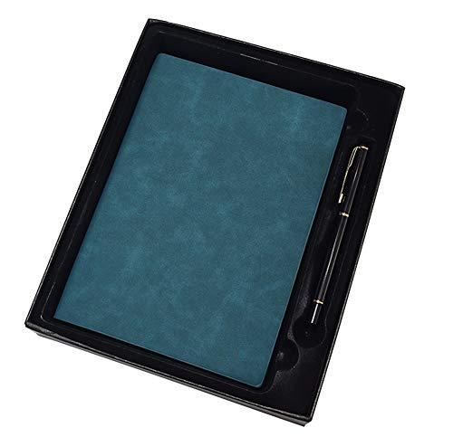 GQQ A5 Notizbuch Vintage Leder Notebook,Lesezeichen, Extra Dicke 240 Seiten, Hardcover-Geschenkbox Mit Metall Unterschrift Stift Metall-gefüttert