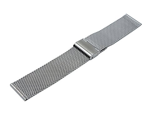 @ccessory 24mm Stainless Steel Milanese Metal Watch Band Strap + Tool + 2 Pins For Sony SmartWatch 2 SW2 (Silver)