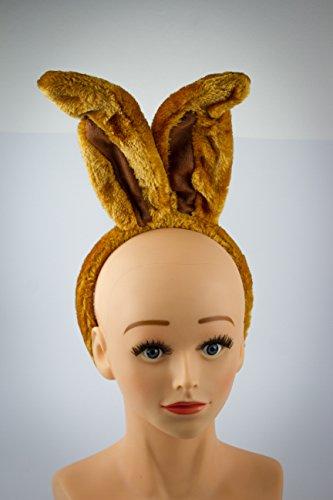 Haarreif Hasenohren braun (Hasenohren Braun Kostüme)