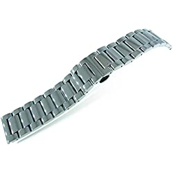 JRRS7777 24mm Solid Stainless Steel Wristband Watch Bracelet Titanium Polishing New Band